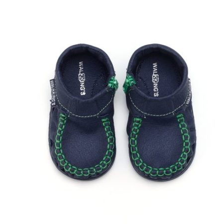 Walkkings-Zip-Around-Baby-Kids-Todder-First-Step-Shoes-Dark-Blue-Top-e1494149149620